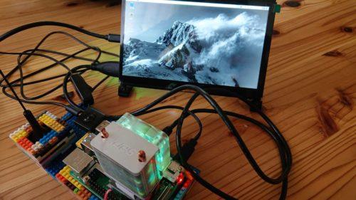 RaspberryPi4+nanoblock+7chタッチディスプレイ+SDR