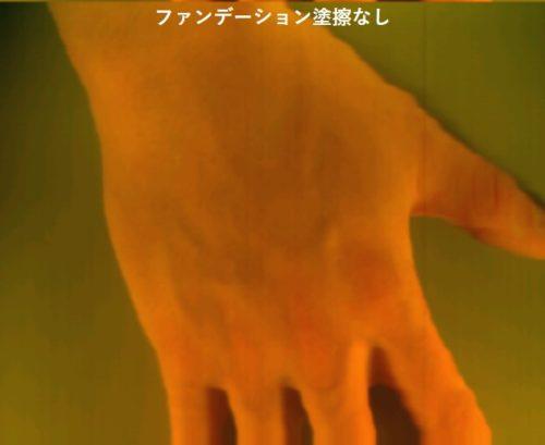 素肌のハイパースペクトルイメージ
